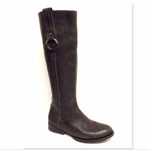 New Frye Gray Distressed Leather Riding Boots 7